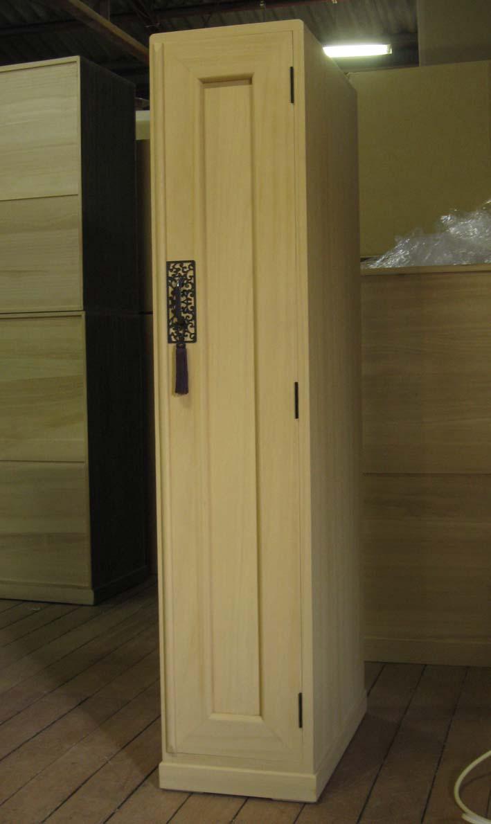 ロッカー 桐 桐タンス 総桐ロッカー箪笥・1枚扉板厚20mm製造直売商品番号305