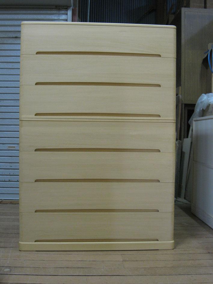 桐たんす 着物 収納総桐クローゼット箪笥7段・重ね式全段通棚板 製造直売 商品番号327807