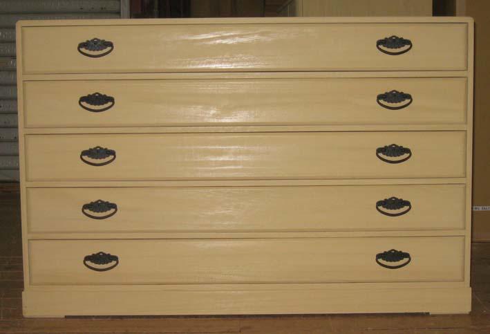 桐たんすタンスチェストシンプル収納着物総桐5段箪笥全段通棚板 製造直売 商品番号145