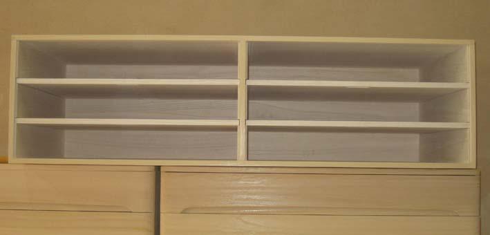 桐たんす 収納 掛軸 上置き総桐上置き箪笥(棚タイプ)・特注品 製造直売 商品番号3945