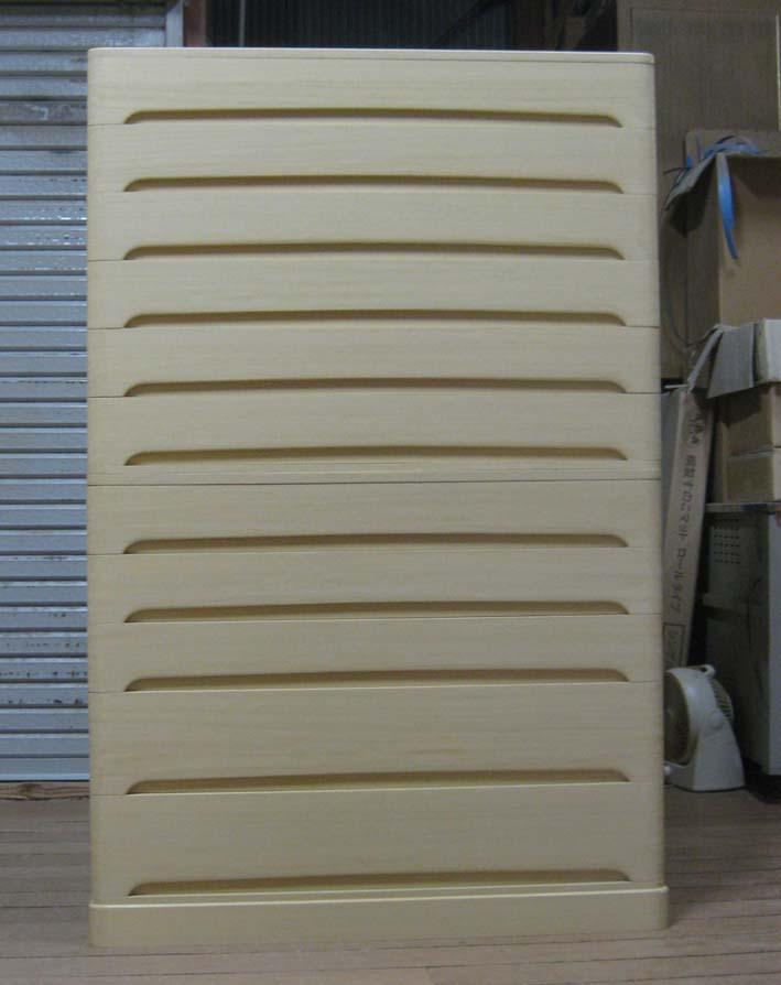 桐たんす 着物 収納 総桐クローゼットたんす11段(浅9・深2)2段重ね式 製造直売 商品番号 4429
