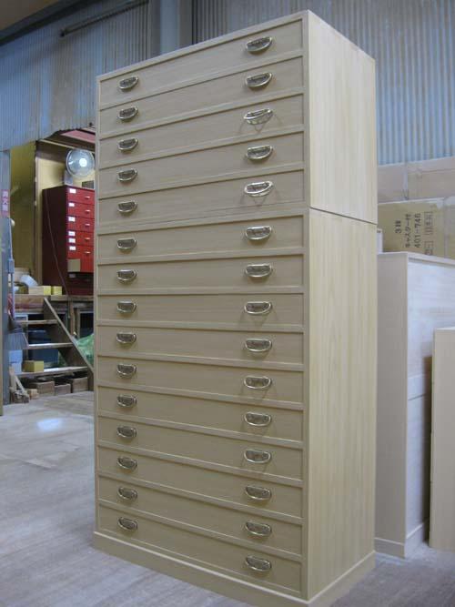 桐たんす 収納 帯 重ね 総桐帯箪笥15段 全段通し棚板 製造直売 商品番号 obiT15