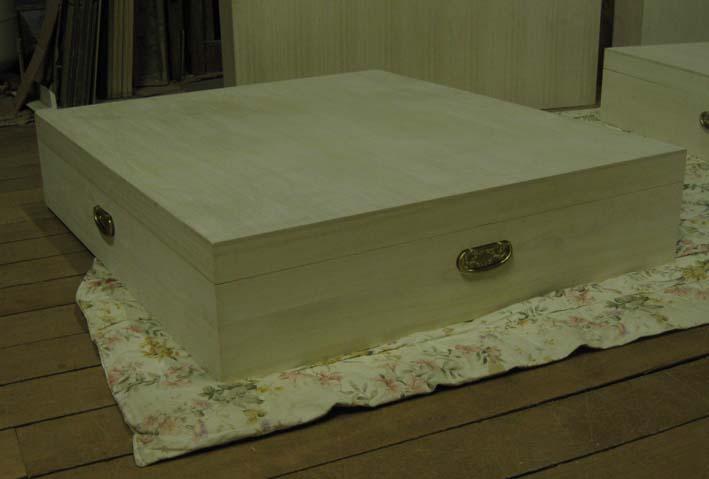 桐衣装箱 衣裳箱 木製 木箱 総桐衣装箱1段・ベット下用 特注品 製造直売 商品番号 5153