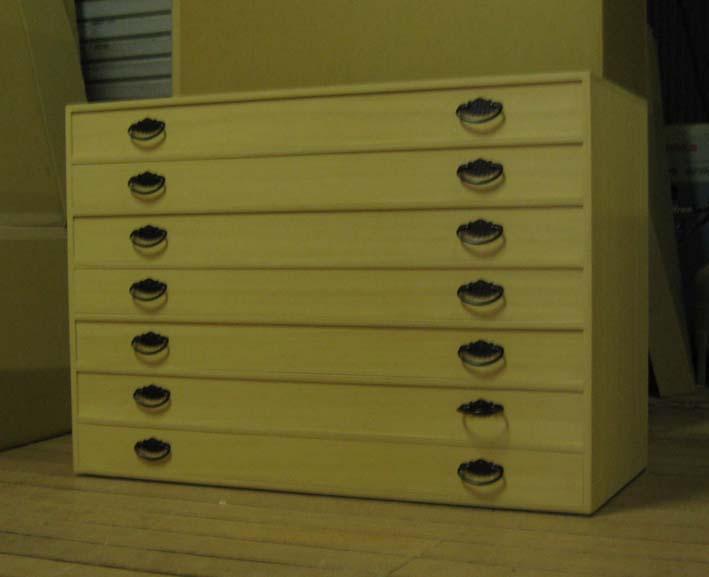 桐たんす 着物 収納 全段通し棚板 総桐整理箪笥7段・上置きタイプ 特注品 製造直売 商品番号 2584U