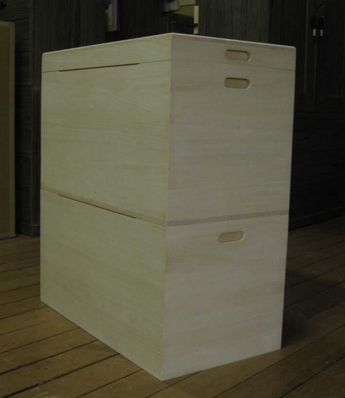 桐 衣装箱 2段 収納 オリジナル 総桐衣装箱2段・キャスター付き 製造直売 商品番号543603