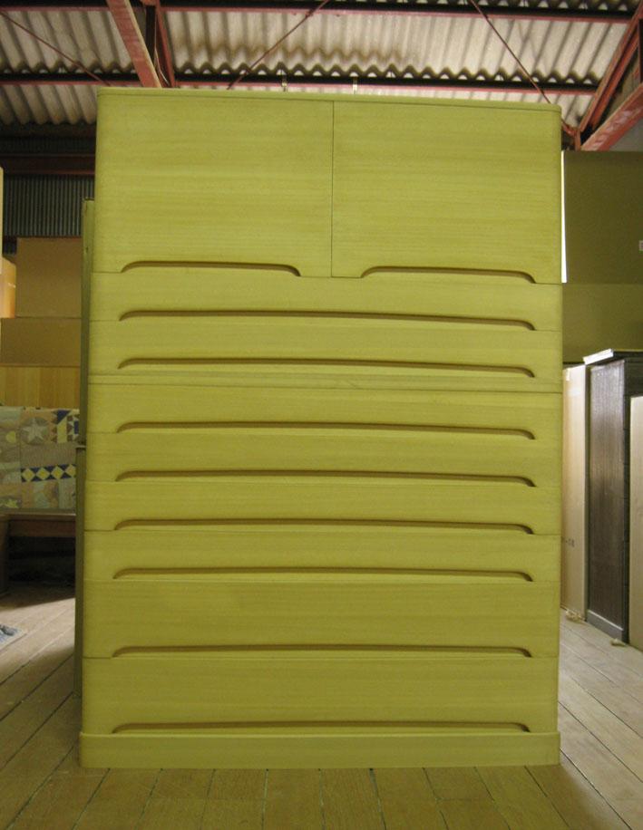 桐タンス 桐たんす チェスト 総桐着物箪笥・洋風・2段重ね式 製造直売 商品番号 5759