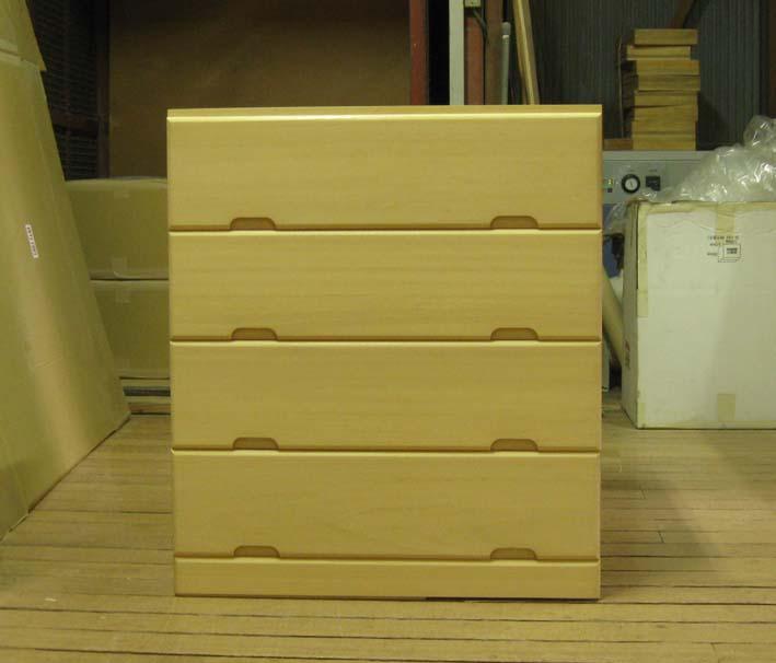 桐タンス 桐たんす チェスト 総桐チェスト4段・全段通し棚板 オーダー 製造直売 商品番号6091