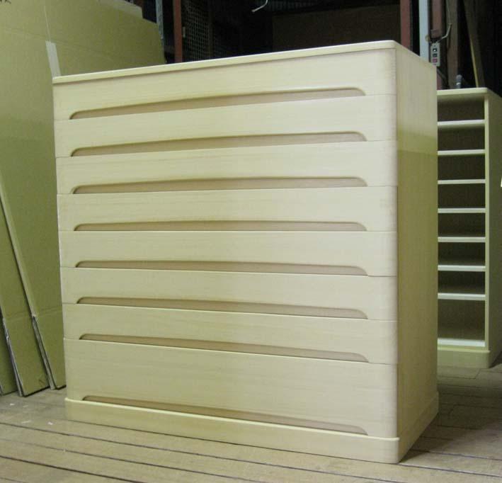 桐タンス たんす チェスト 和モダン 総桐クローゼット箪笥8段 オーダー 製造直売 商品番号 689201