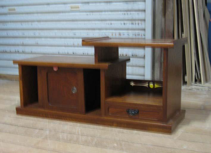 置き床欅和室在庫処分 欅小物家具・置き床商品番号323