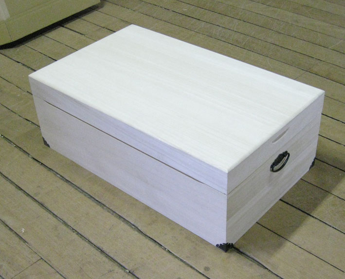 自然木を生かした山小屋風ボックス 【白木無塗装】 ・総ひのき無垢 (一枚もの) アクセサリーボックス小物入れ木製ひのき無垢天然木ご注文製作商品