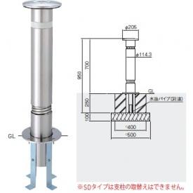 帝金 KS10CTS-SD バリカー上下式 スタンダード ステンレス製 直径114.3mm