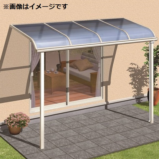キロスタイルテラス R型屋根 1階用 1.5間×5尺 ロング柱仕様 熱線遮断ポリカーボネート 積雪20cm対応 #2019年の新仕様