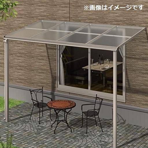 キロスタイルテラス F型屋根 1階用 4間(2.間+2間) ×6尺ロング柱 熱線遮断ポリカ 積雪20cm対応 #2019年の新仕様
