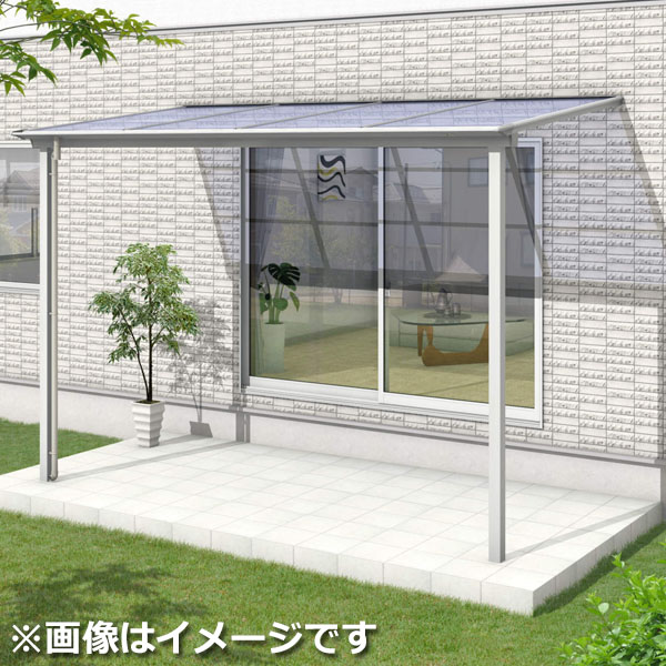 三協アルミ シャルレ 1階用 アルミ色枠 1.5間×5尺 関東間 ロング柱 ポリカ板 1500タイプ