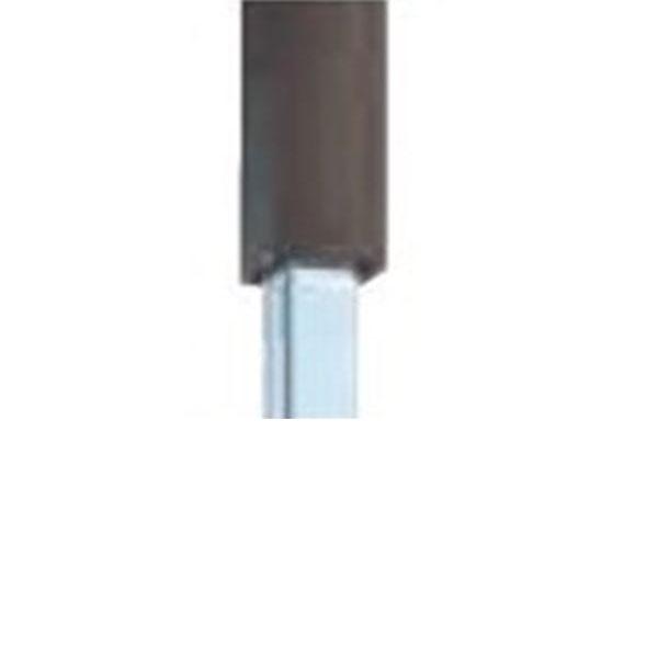 グローベン Gユニット 中芯柱ユニット(中芯40角スチール仕様) 栗(木目)60角 H1400用柱 端柱 A11GE114M-S 『角柱 竹垣』
