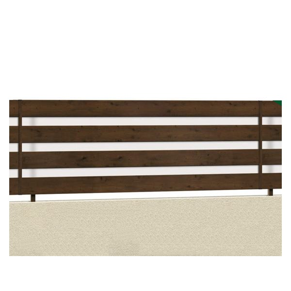 腐らない木調アルミフェンス 三協アルミ フレイナ YP型 本体 フリー支柱タイプ 1212 『柵 高さ H1200mm用』 木調色