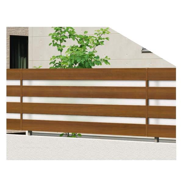 腐らない木調アルミフェンス 三協アルミ フレイナ YP型 本体 フリー支柱タイプ 2008 『柵 高さ H800mm用』 木調色