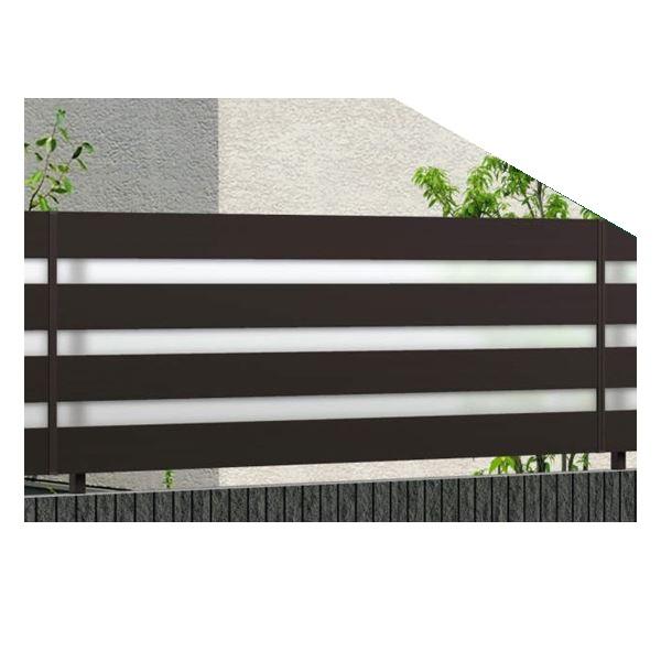 錆びにくいアルミフェンス 三協アルミ フレイナ YP型 本体 フリー支柱タイプ 2008 『柵 高さ H800mm用』 形材色