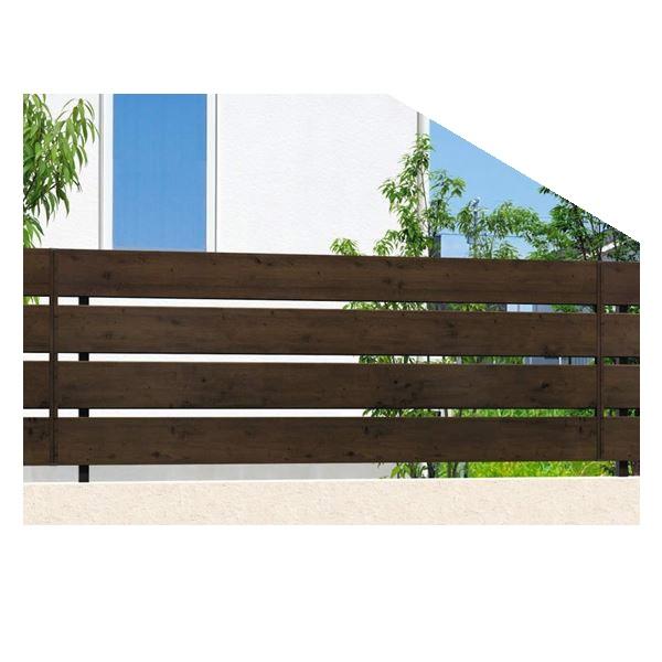 腐らない木調アルミフェンス 三協アルミ フレイナ Y3型 本体 フリー支柱タイプ 2012 『柵 高さ H1200mm用』 木調色