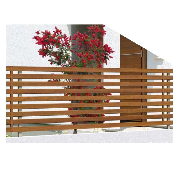 腐らない木調アルミフェンス 三協アルミ フレイナ Y4型 本体 フリー支柱タイプ 2008 『柵 高さ H800mm用』 木調色