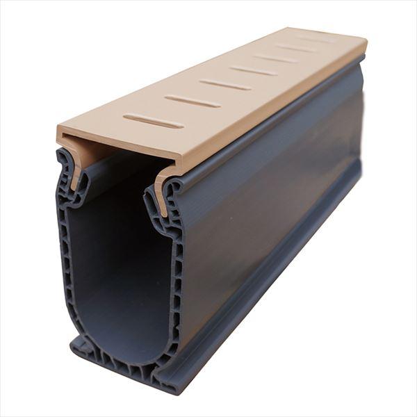 オンリーワン 排水溝 コンパクトドレイン 標準セット(長さ24m分) タン MT2-DSTTN ※個人配送不可