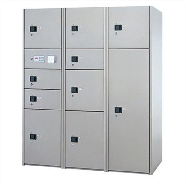 ナスタ 宅配ボックス 屋内用 コンピューター式 標準セット 3列10ボックス スチール扉 前入れ後出し『マンション用』