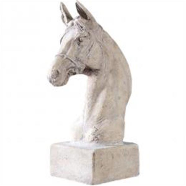 FRP 馬の頭部・台付き / Horses Head on Base Smail 『美術オブジェ アニマルオブジェ 店舗・ホテル向け』