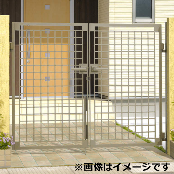 三協アルミ 門扉 マイリッシュ B1型 両開きセット 門柱タイプ 0810