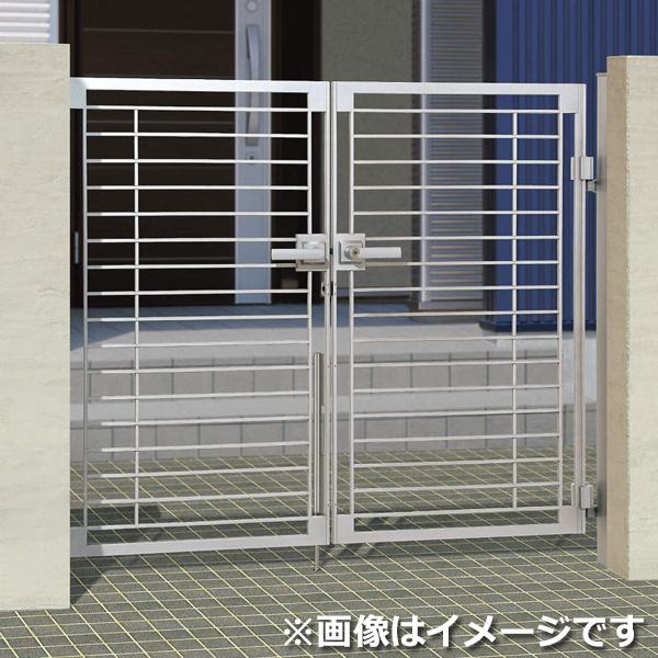 三協アルミ 門扉 マイリッシュ B2型 両開きセット 門柱タイプ 0810