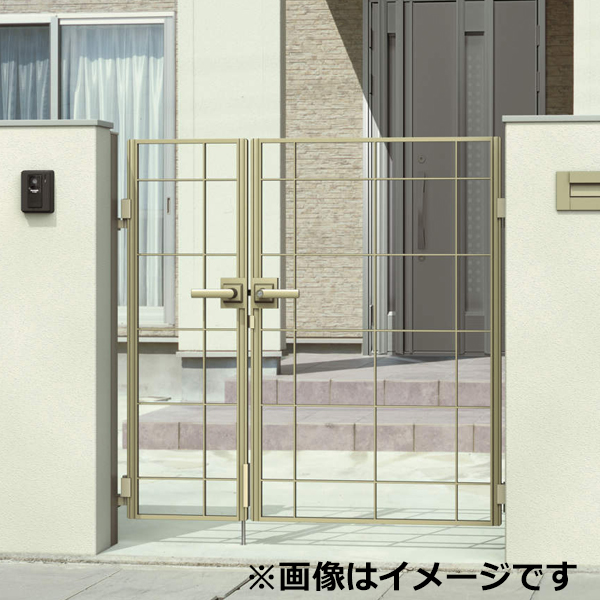 三協アルミ 門扉 マイリッシュ S1型 親子開きセット 門柱タイプ 04・0812