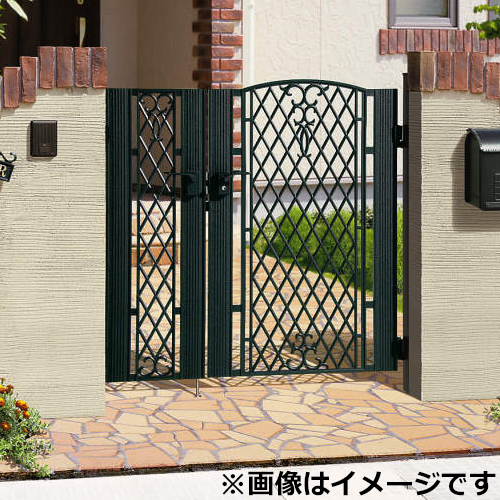 三協アルミ 門扉 ジョイラルA型  親子開きセット 門柱タイプ 04・0812 『LHZ-01錠仕様』
