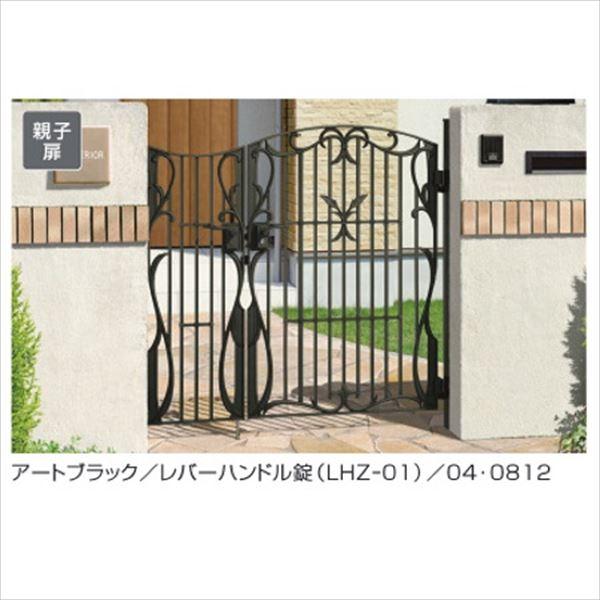 三協アルミ 門扉 フェアル 1型 親子開きセット 門柱タイプ 04・0810 #LHZ-01錠仕様