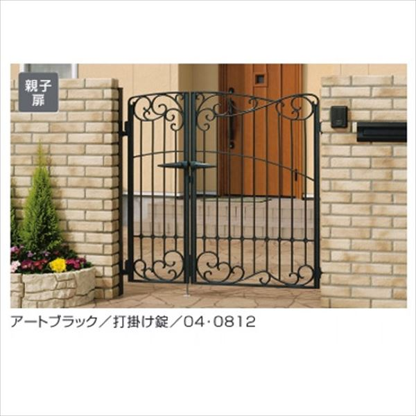 門柱タイプ 8型 キャスリート 04・0810 門扉 三協アルミ 親子開きセット