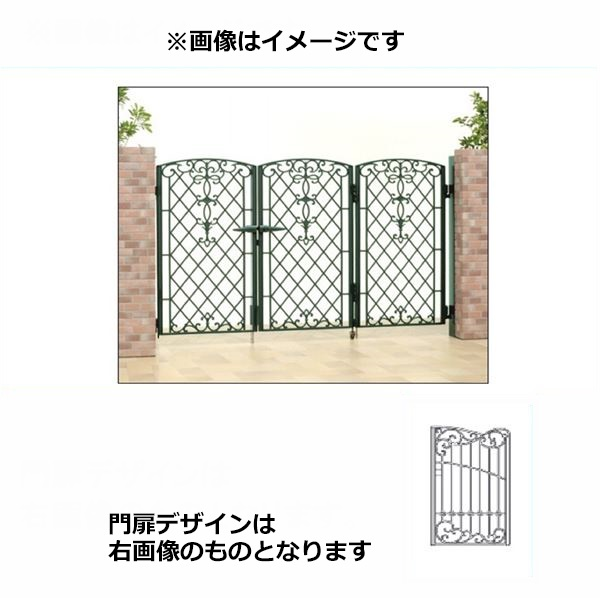 三協アルミ 門扉 キャスリート 8型 3枚折りセット 門柱タイプ 0612