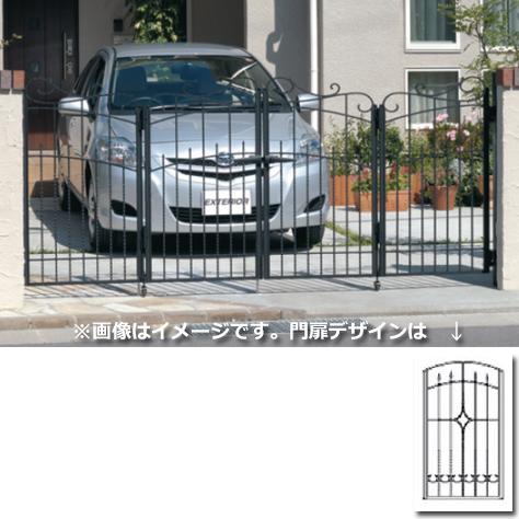 三協アルミ 門扉 プロヴァンス 2型 4枚折りセット 門柱タイプ 0612  アートブラック(KA) アートブラック(KA)