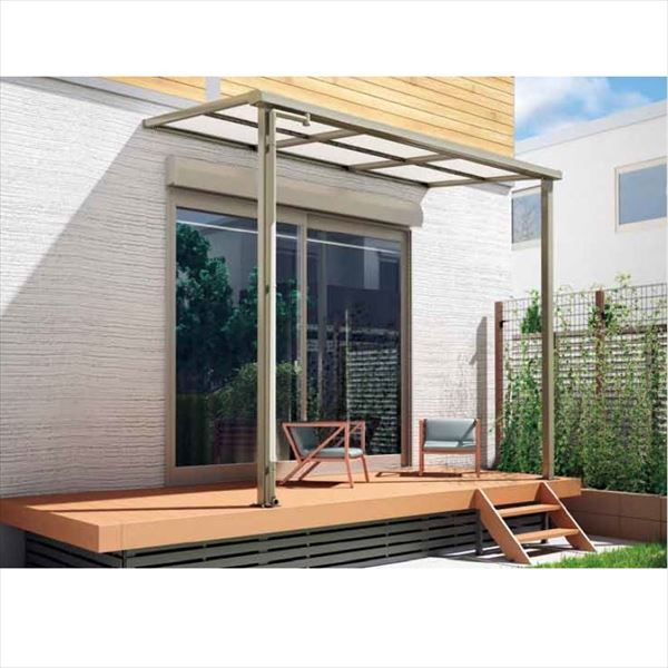 キロスタイル-IS モダンルーフMF75 基本セット 標準柱仕様 奥行移動桁 単体 1階用 幅2000mm×5尺(1475mm) ポリカ屋根