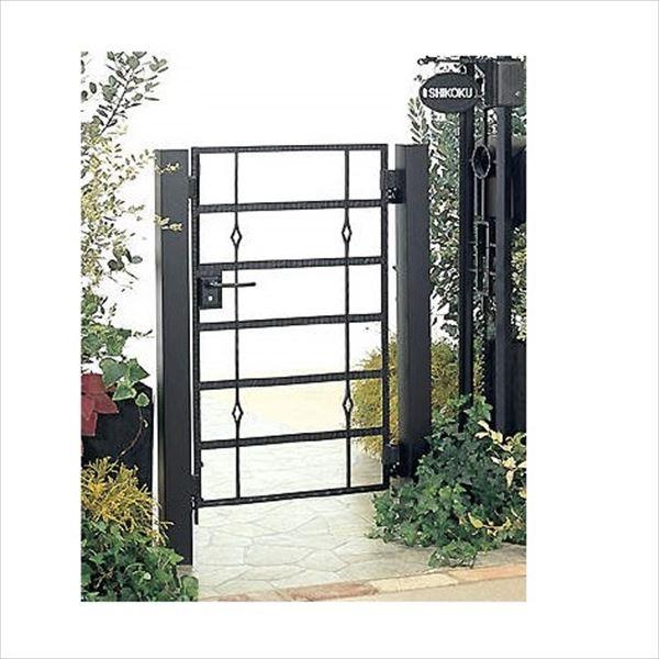 四国化成 ブルーム門扉 16型 柱仕様 片開き 0610 ブラックつや消し
