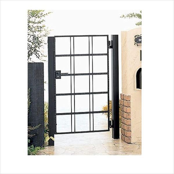 四国化成 ブルーム門扉 19型 柱仕様 片開き 0712 ブラックつや消し
