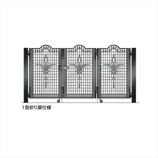 四国化成 ビビオ門扉 1型 柱仕様 3枚折り扉 0812 ブラックつや消し