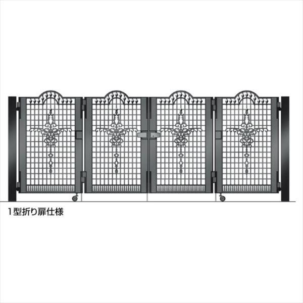 四国化成 ビビオ門扉 1型 柱仕様 4枚折り扉 0712 ブラックつや消し