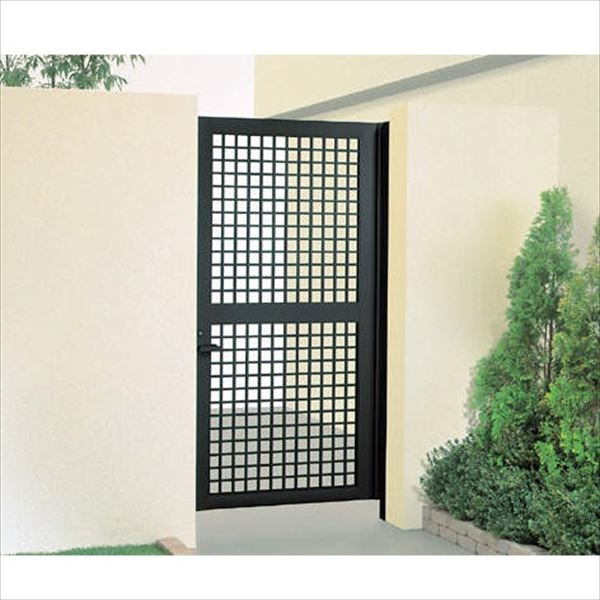 送料無料 四国化成 品質とお求めやすさを追求した形材門扉の決定版 クレディ門扉 柱仕様 3型 片開き 半額 トラスト 0920