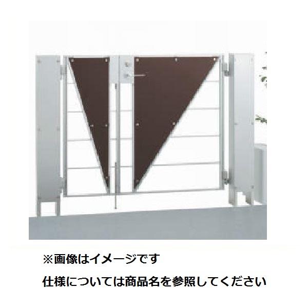 四国化成 マイ門扉 S2型 柱仕様 両開き 0810 アルミタイプ シルバーつや消し/マットブラウン