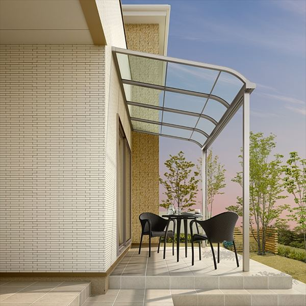 店舗良い リクシル  スピーネ ロング柱 1.5間×5尺 テラスタイプ100cm(3000タイプ)/関東間/R型/標準仕様 熱線吸収アクアポリカーボネート(クリアS):エクステリアのプロショップ キロ-エクステリア・ガーデンファニチャー