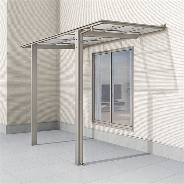 安い リクシル  フーゴ F ロング柱 テラスタイプ 18-36型 アルミカラー 熱線遮断FRP板DRタイプ:エクステリアのプロショップ キロ-エクステリア・ガーデンファニチャー