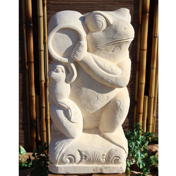 『個人宅配送不可』SIP バリ島 石像 カエル 壷 H600 KAERU-02