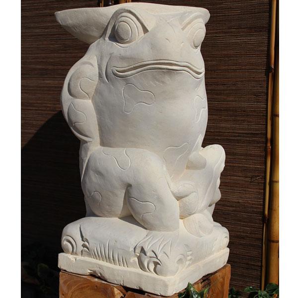 SIP バリ島 石像 カエル 葉っぱ傘 H600 KAERU-03