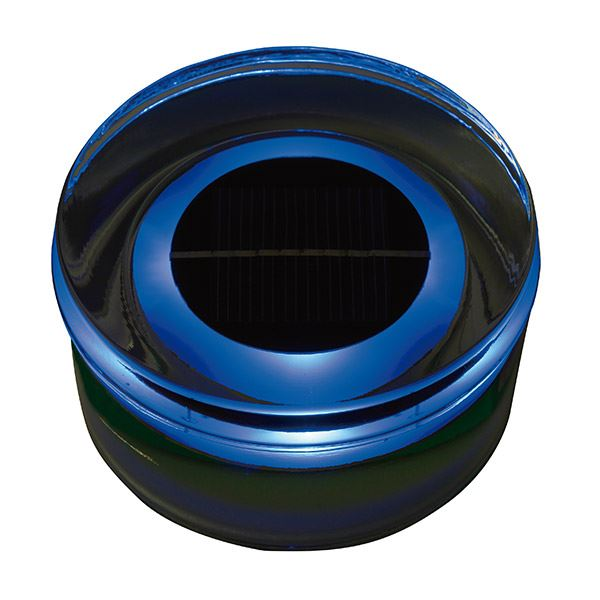 タカショー ソーラーガーデンライティング(ローボルト) タイルドライトソーラー ラウンド (LED色:青) #61749400 HCC-B01T *取付には専用のベースが別途必要です