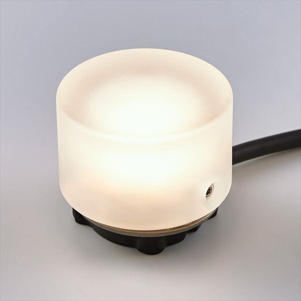 リクシル TOEX 12V 美彩 グラスフロアライト 丸形 床置タイプ 8 VLG50 SC 『ローボルトライト』 『エクステリア照明 ライト』 シャイングレー