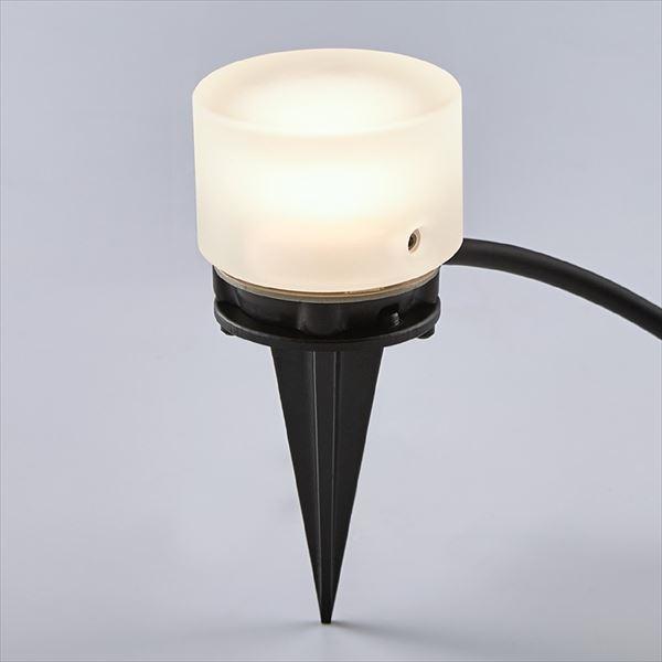 リクシル 12V 美彩 グラスフロアライト 丸形 スパイクタイプ 8 VLG51 SC 『ローボルトライト』 『エクステリア照明 ライト』 シャイングレー