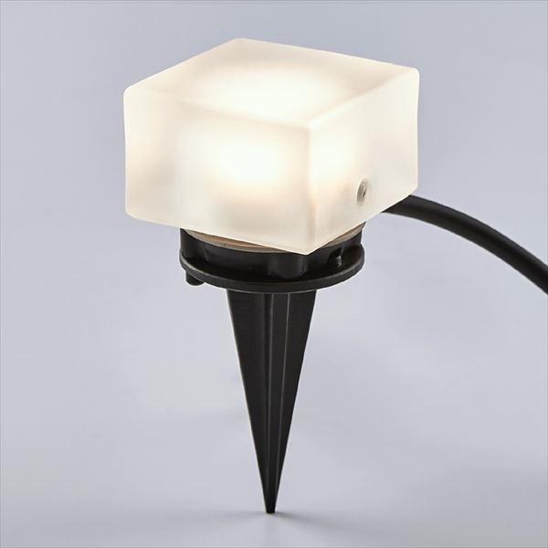 リクシル 12V 美彩 グラスフロアライト 角形 スパイクタイプ 8 VLG53 SC 『ローボルトライト』 『エクステリア照明 ライト』 シャイングレー